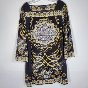 Style & Co. Scarf Print Dress pattern L